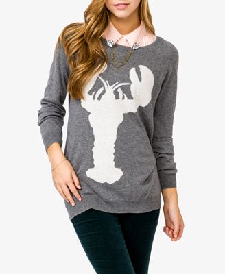 Lobster Silhouette Sweater | FOREVER 21 - $22.80 | Forever 21 ...