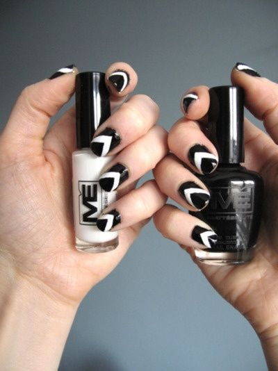 Easy Black And White Nail Design! - Easy Black And White Nail Design! Cool Nail Designs Pinterest