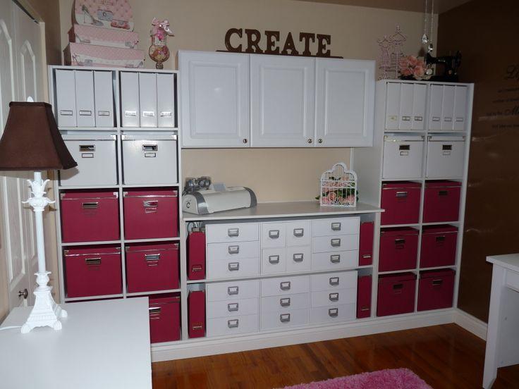 Great Wall Of Storage Using Ikea Red Bo Units Make By Her Husband New Craftsikea Ideascraft