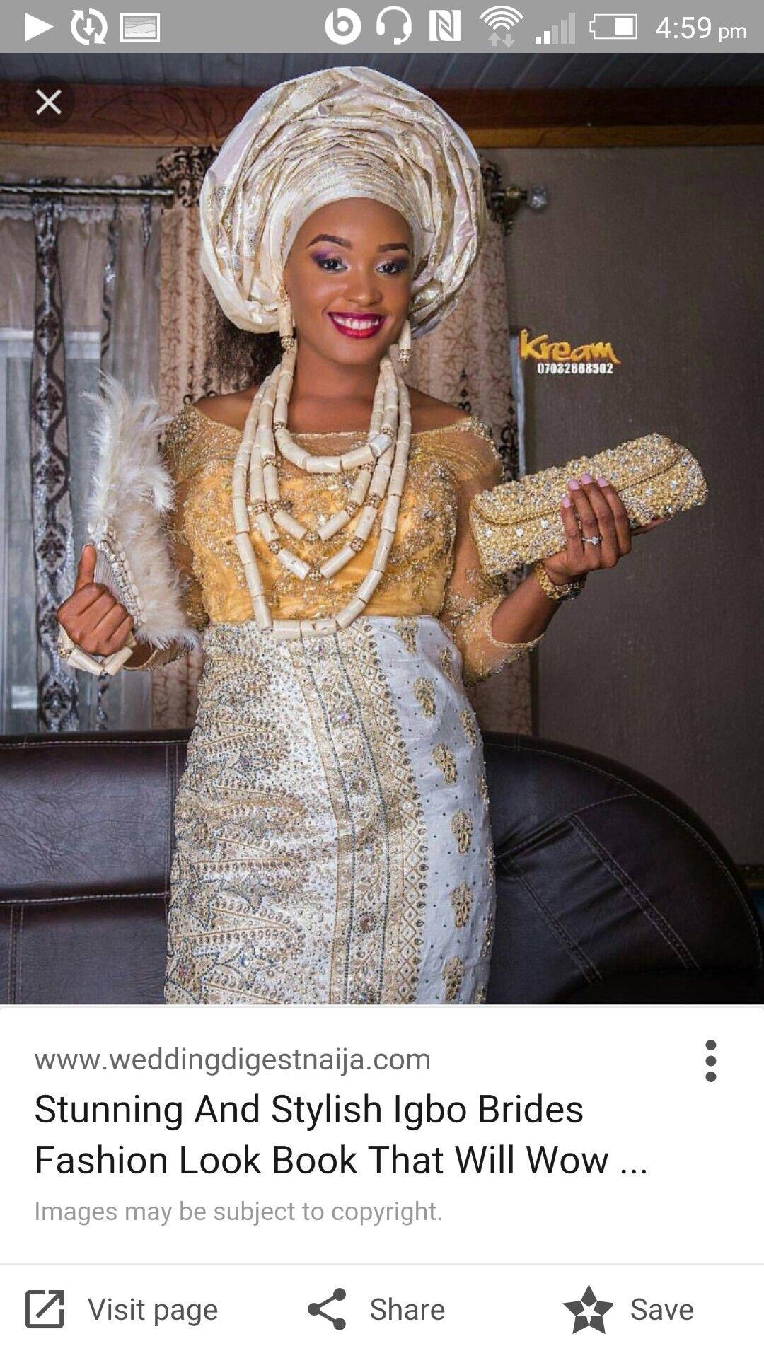 Igbo bride outfit idea traditional wedding ideas pinterest