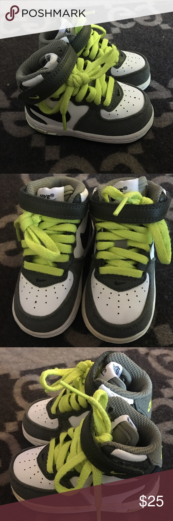 Colorful Nike sneakers with laces and Velcro strap
