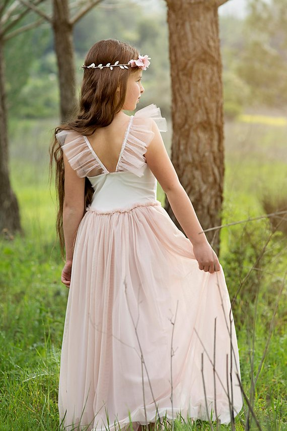 75eb2c6b045 BLACK FRIDAY Maxi Blush Pink Flower Girls Dress Flower Girl Dress ...