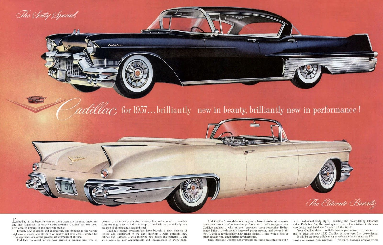 1957 The Sixty Special and 1957 Cadillac Eldorado Biarritz | vintage ...