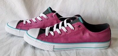 Converse NEW Junior 656035F Pink Glittery with Green