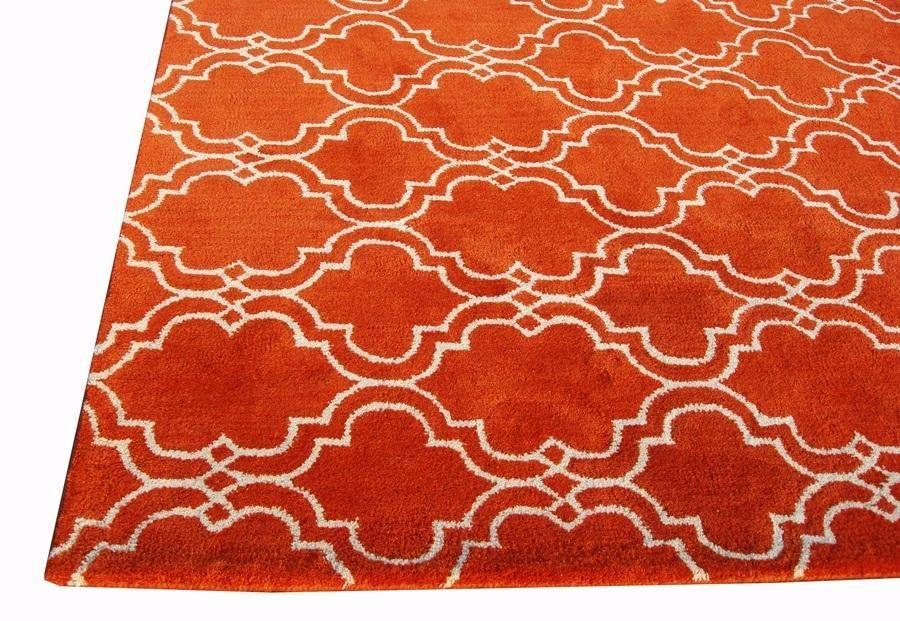 orange area rug 5x8