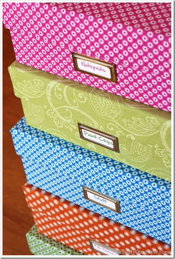 Decorative Fabric Storage Boxes One Yard Décor Fabric Covered Boxes Collecting Printer Paper