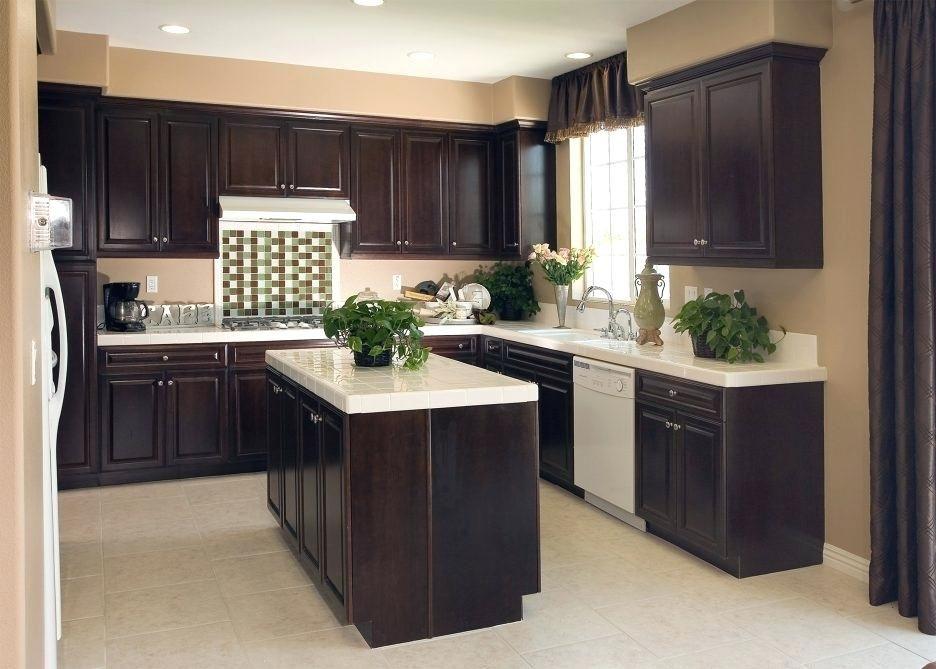 Image Result For Kitchen Paint Color Ideas With Dark Brown Cabinets Dark Wood Kitchens Dark Wood Kitchen Cabinets Dark Brown Kitchen Cabinets