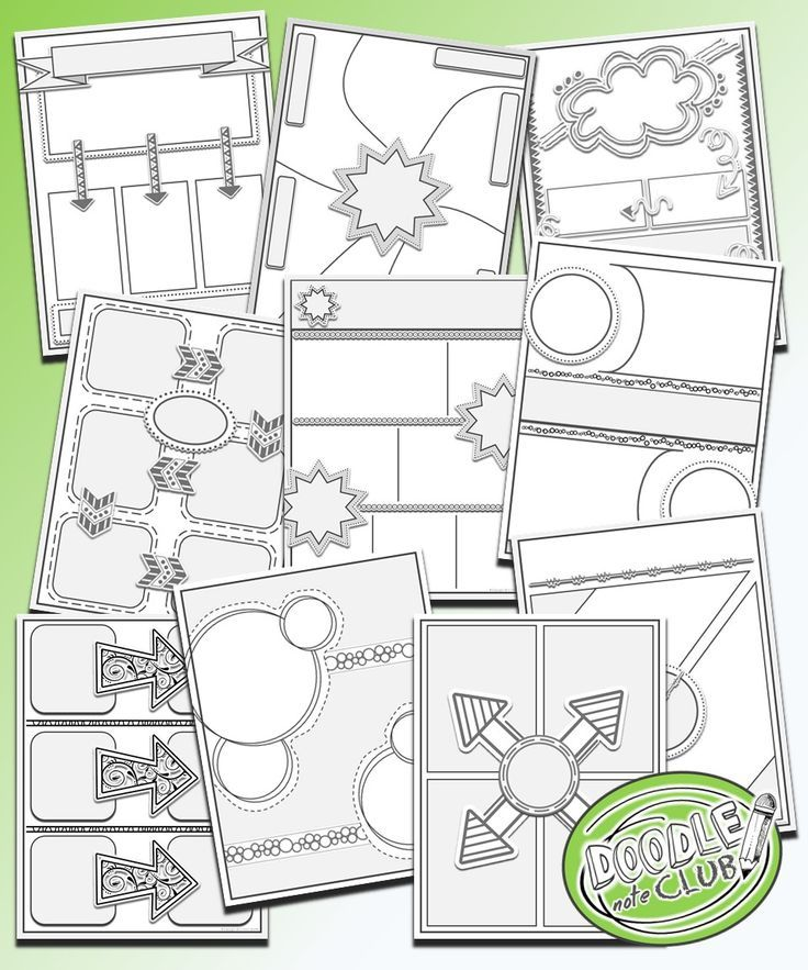 templates to make your own doodle notes for your classroom doodle