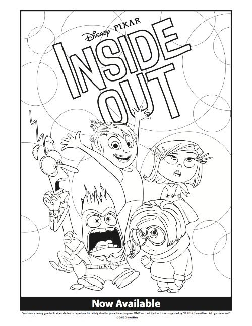 disney inside out coloring pages mommymafiacom - Coloring Page Inside Out