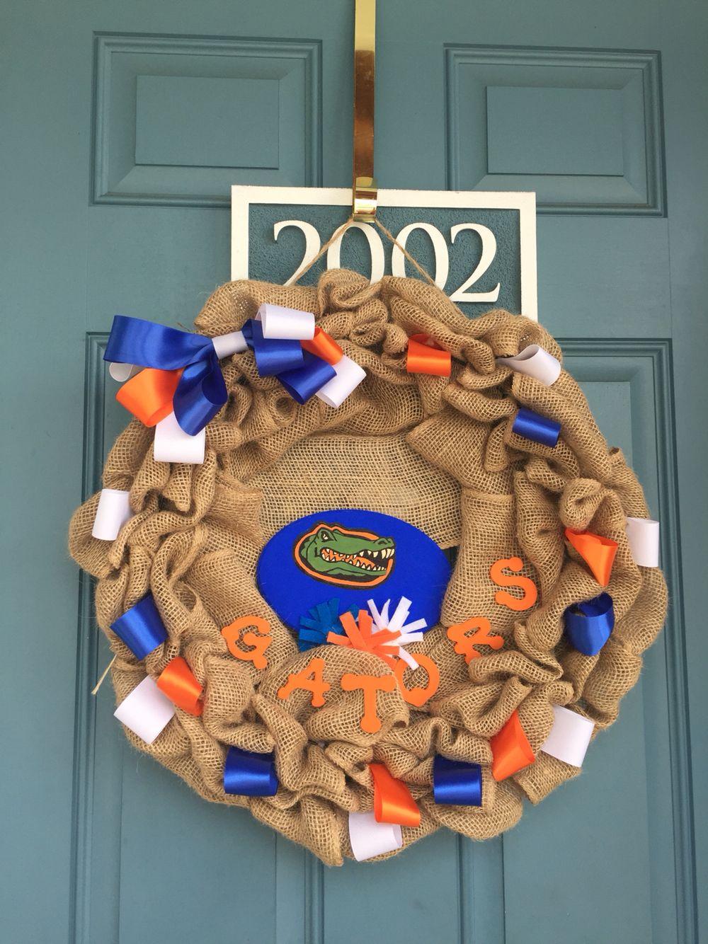 Florida Gators door wreath