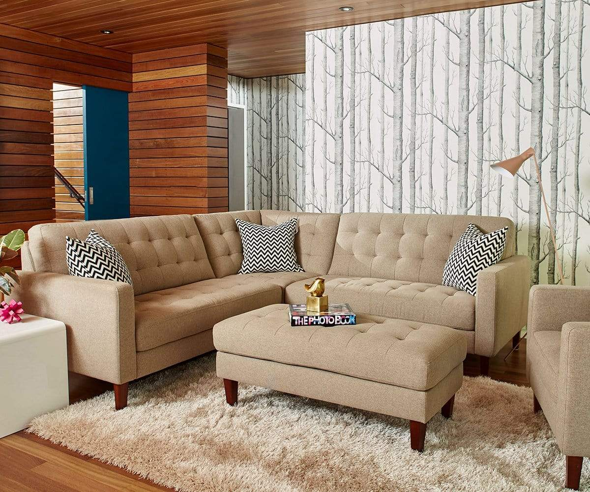 Laura Corner Sectional | Wooden sofa set designs, Sofa set ...