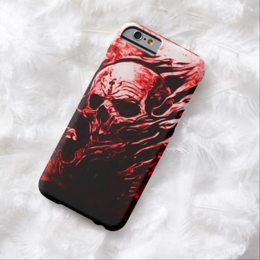 Skully Skull Red Dead Reaper Airbrush Art iPhone Barely There Custom iPhone 6 Case by Wraithe Designs.
