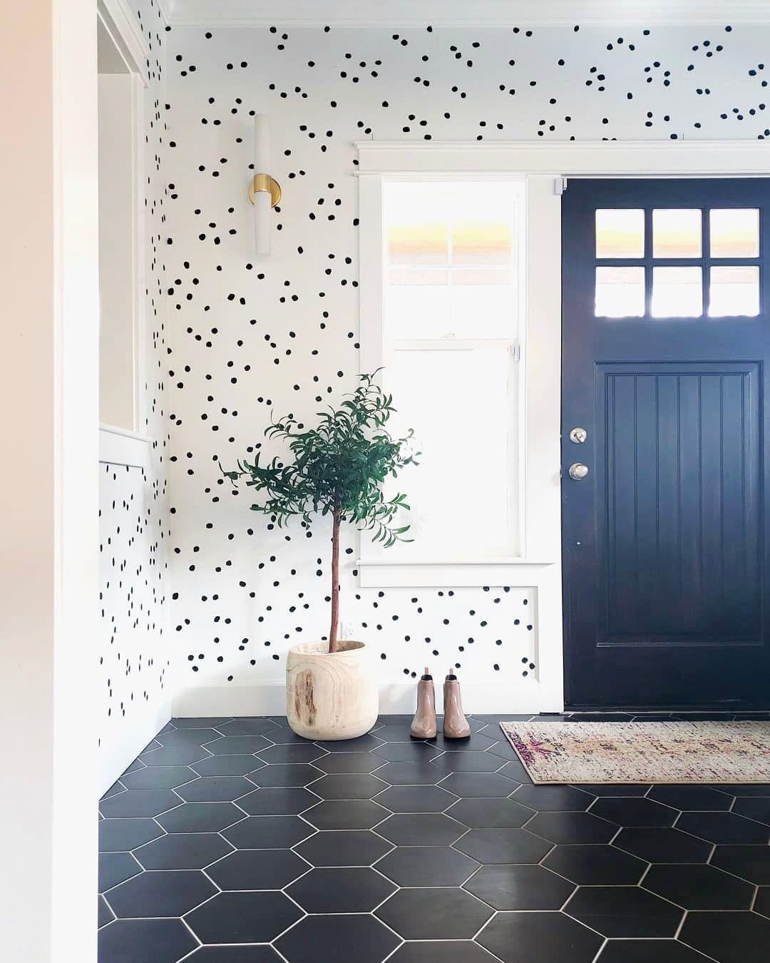 "The Gula Shop on Instagram ""Polka dots + hexagon tiles"