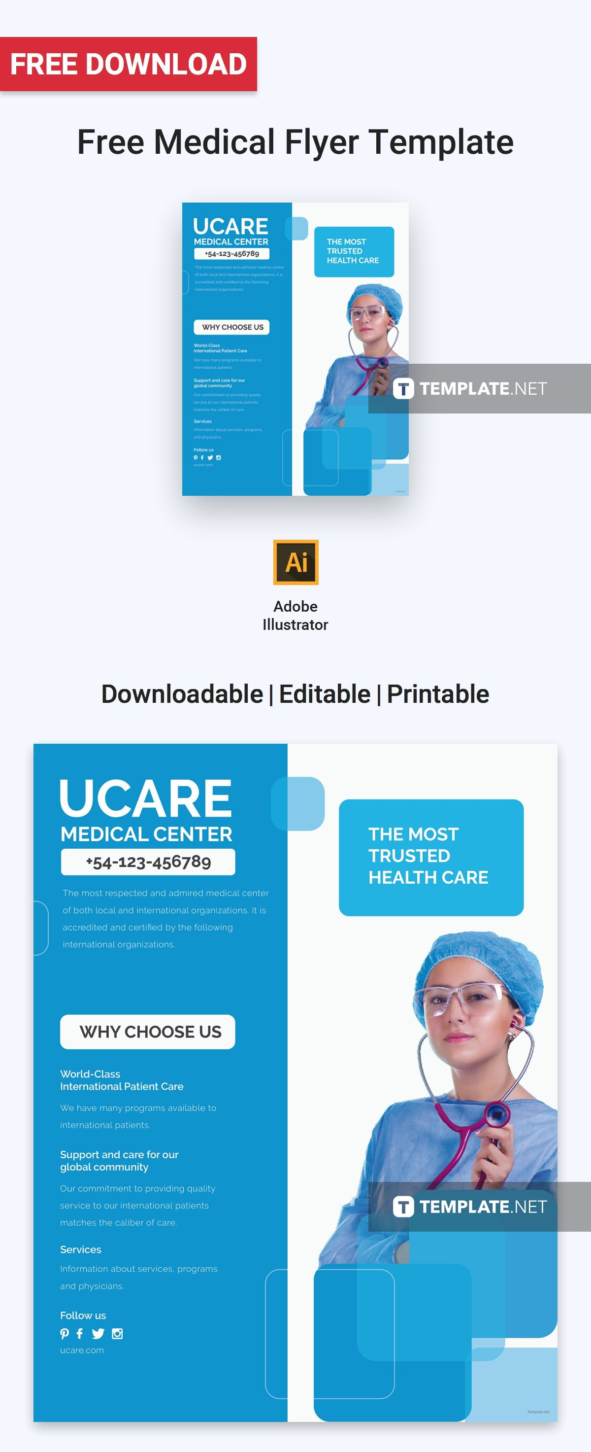 free medical flyer free flyer templates pinterest flyer