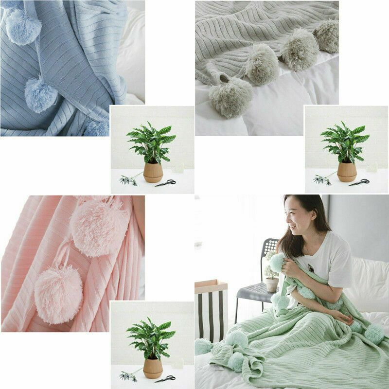Us Elegant 100 Cotton Throw Blanket Sofa Office Nap Soft Cover Knitted Blankets Sofa Throws Ideas Of Sofa Thr Sofa Throw Blanket Luxury Blanket Sofa Throw
