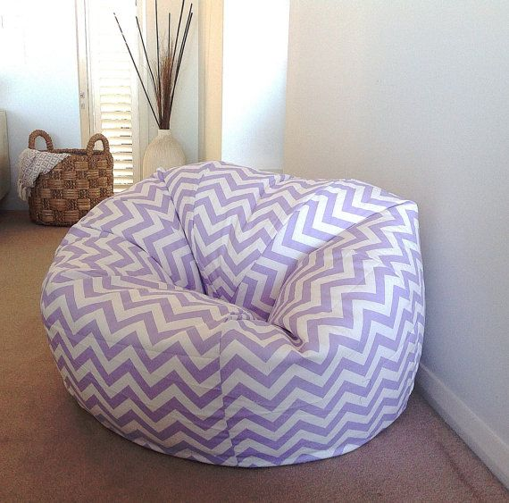 Bean Bag Cover Adults Teenagers Kids Zig Zag Chevron Beanbag