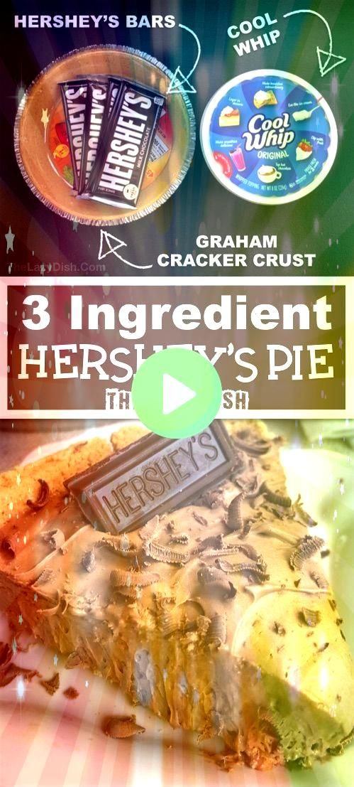 No Bake Chocolate Pie  Looking for quick and easy dessert recipes This one is always a crowd pleaser Made with Cool Whip Hersheys and a graham cracker crust The Lazy Dish...
