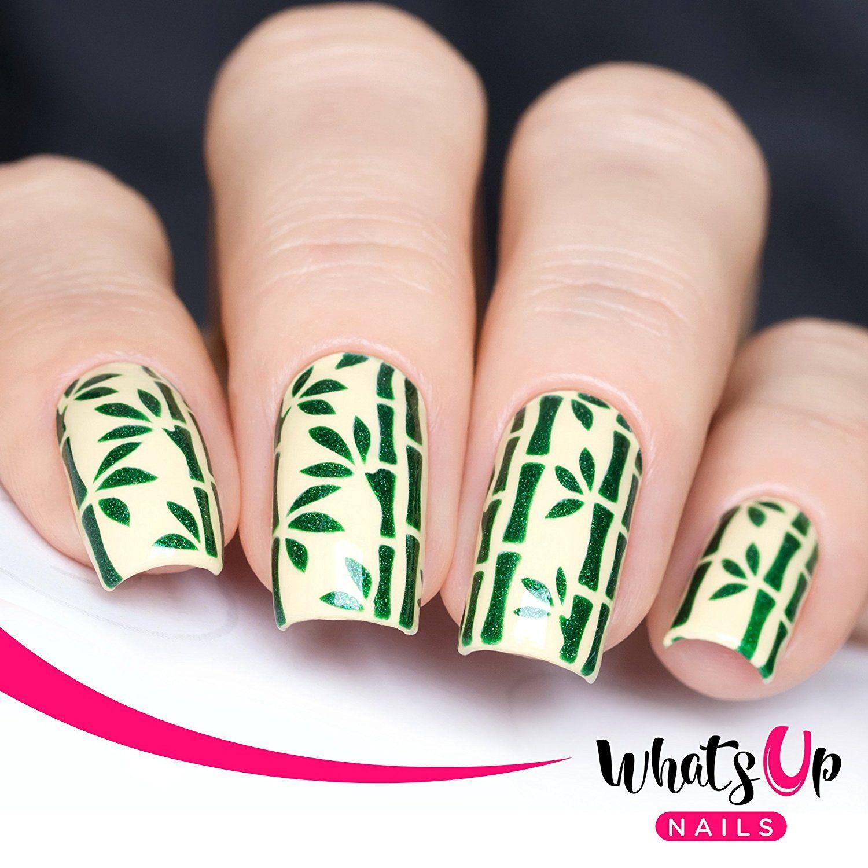 Whats Up Nails   Bamboo Nail Stencils Stickers Vinyls for Nail Art ...