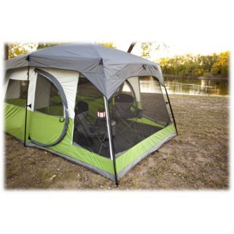 Coleman Vacationer Ten-Person x Cabin Tent  sc 1 st  Pinterest & Coleman® Vacationer 2-Room 10-Person 15u0027 x 10u0027 Cabin Tent | Bass ...