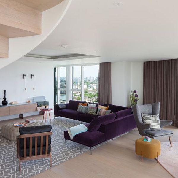 The Debonair Penthouse By A London Interior Designer: Chic And Stylish Interior Redesign Of A London Penthouse