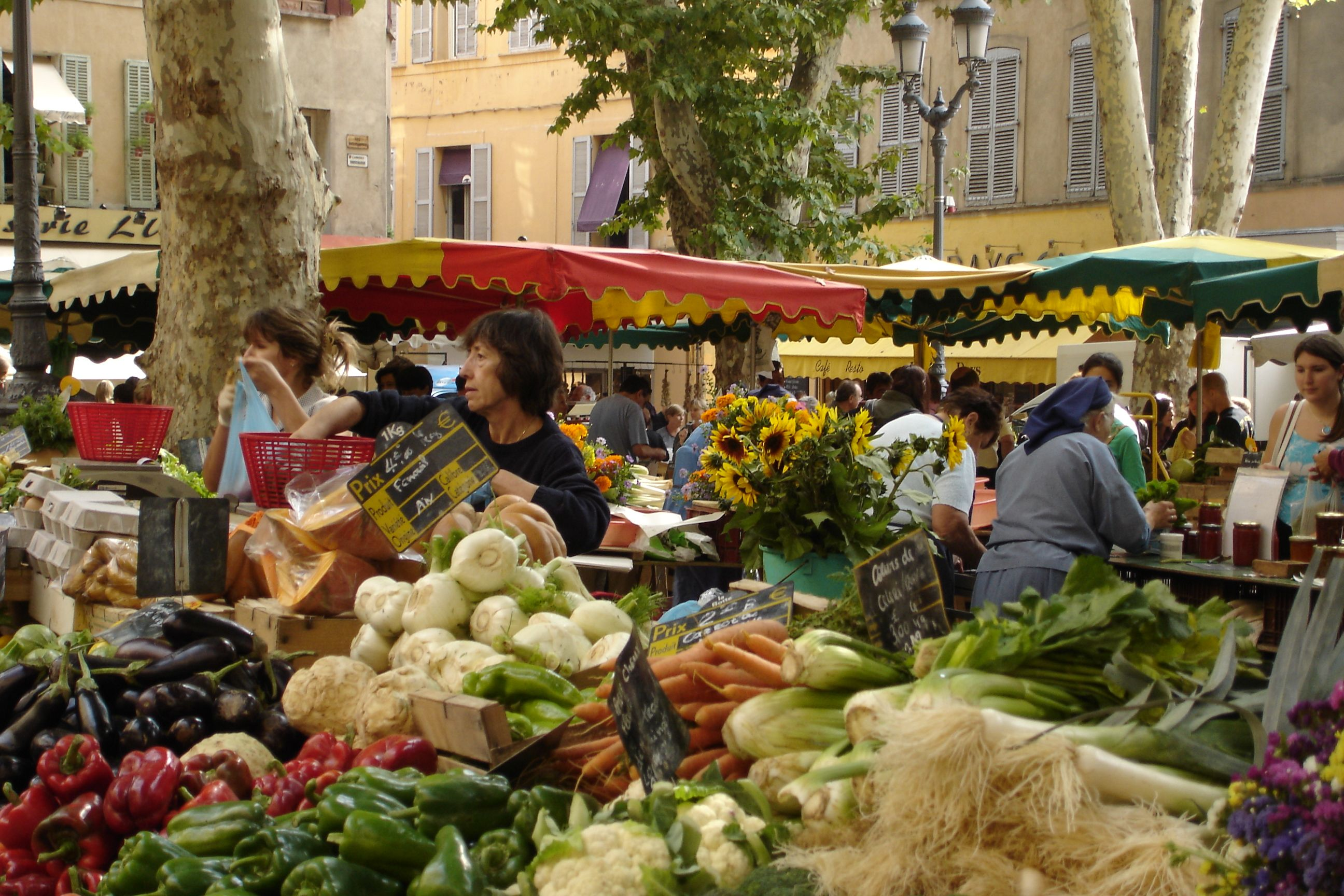 The Daily Vegetable Market In Place Richelme In Aix En Provence