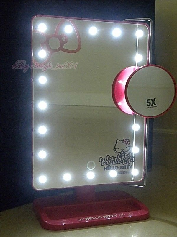 Hellokitty Makeup Dressing Mirror Touch Screen Light Up Led With