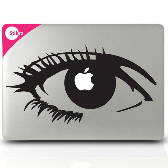 Apple Of My Eye Vinyl Mac Decal By Stikrz On Etsy I See You Mac Decals Macbook Stickers Macbook Decal