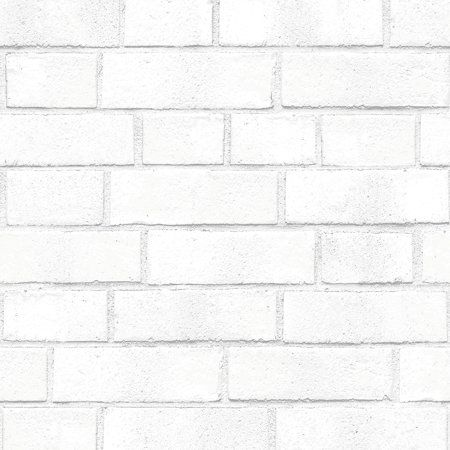 Brick White Removable Peel And Stick Wallpaper Walmart Com Removable Brick Wallpaper White Brick Wallpaper Brick Wallpaper