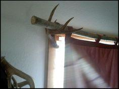 deer antler curtain rod holders