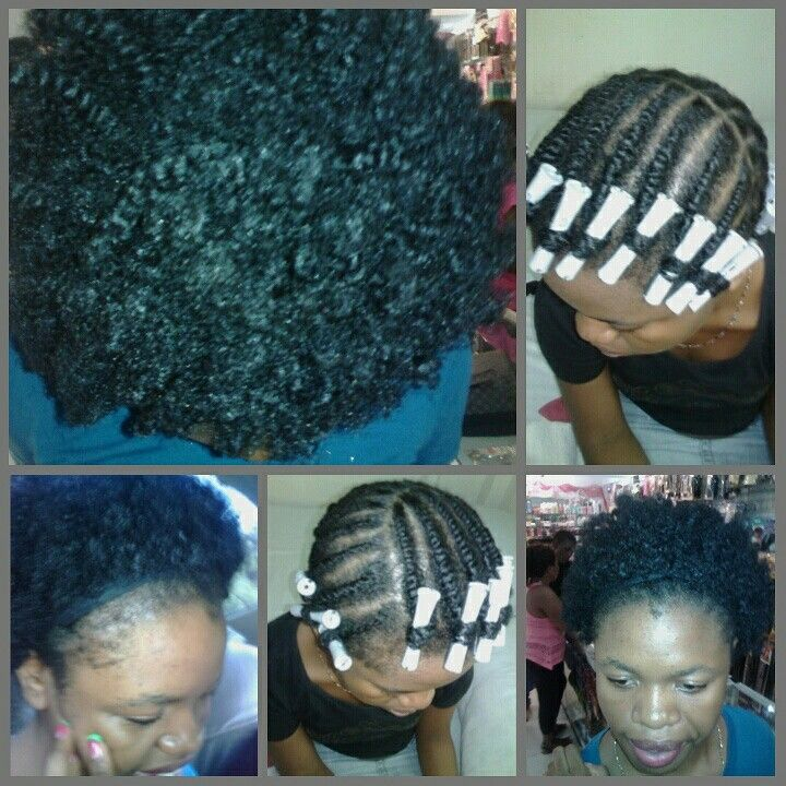 Flat twist out on 4c hair