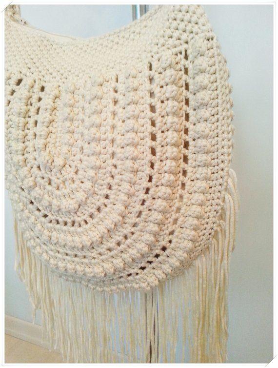 1a6a2276379cc3 Crochet Bag, Crossbody Bag, Boho Bag, Crochet Purse, Fringe Bag, Shoulder  Bag, Summer Bag, Gift for