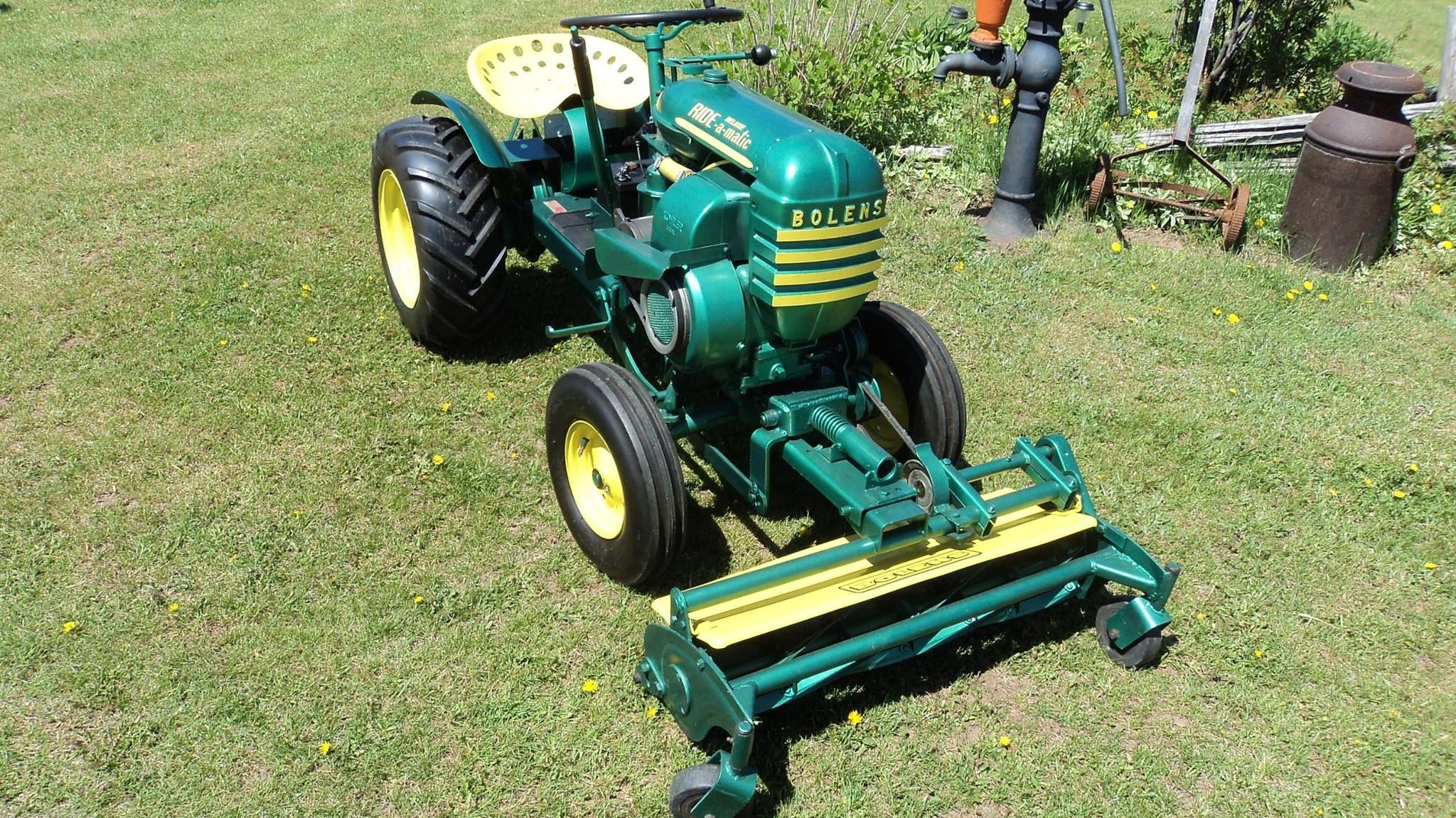 Bolens 2 Wheel Tractor : Bolens quot ride o matic w front mount reel mower garden