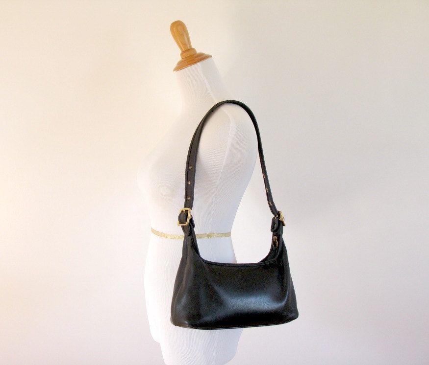 Coach Black Leather Legacy Hobo Shoulder Bag Purse 9059 8c906a95f44f6
