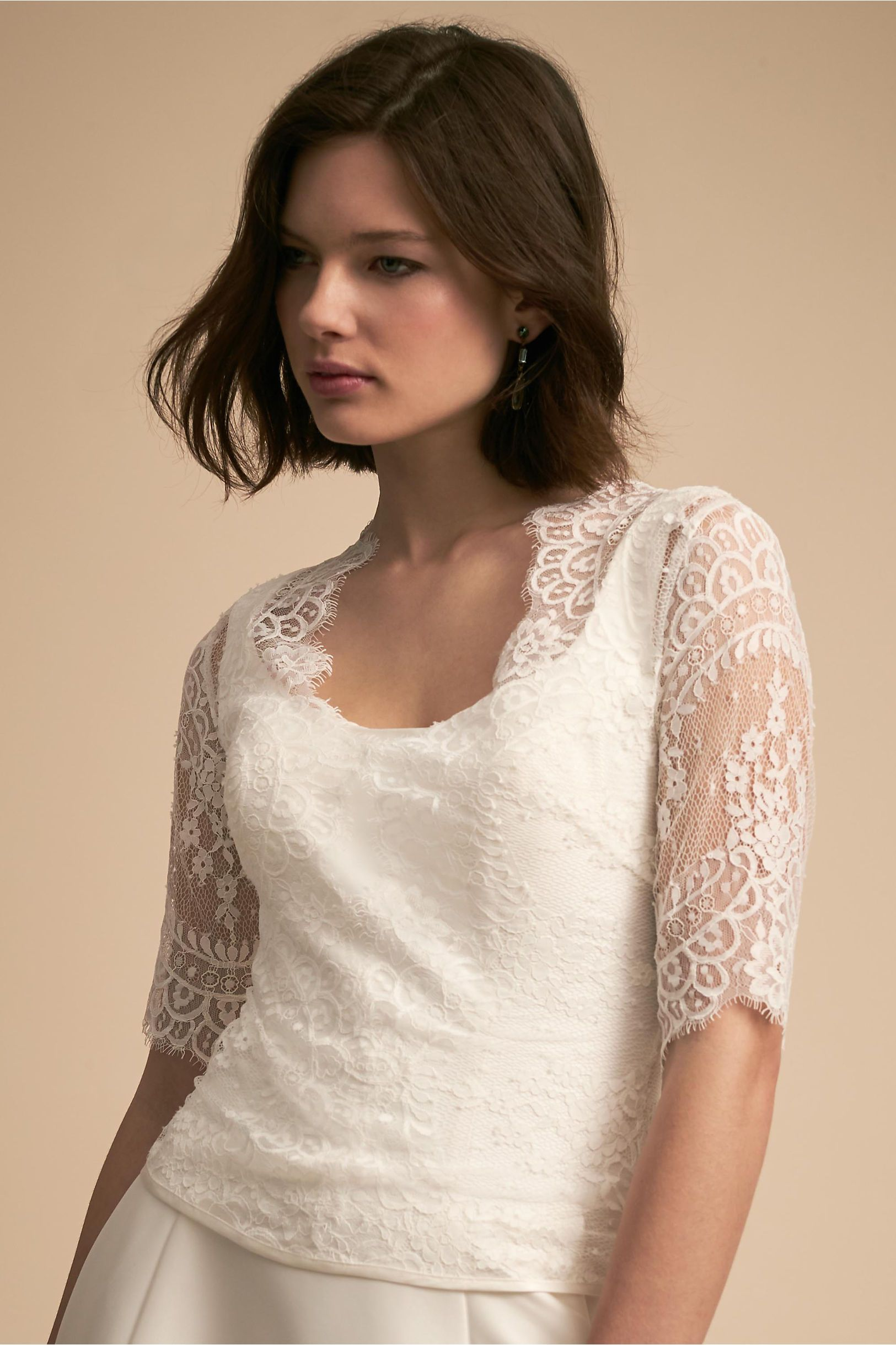 BHLDN Kelis Topper Ivory in Bride | BHLDN | Wedding Dress Ideas ...