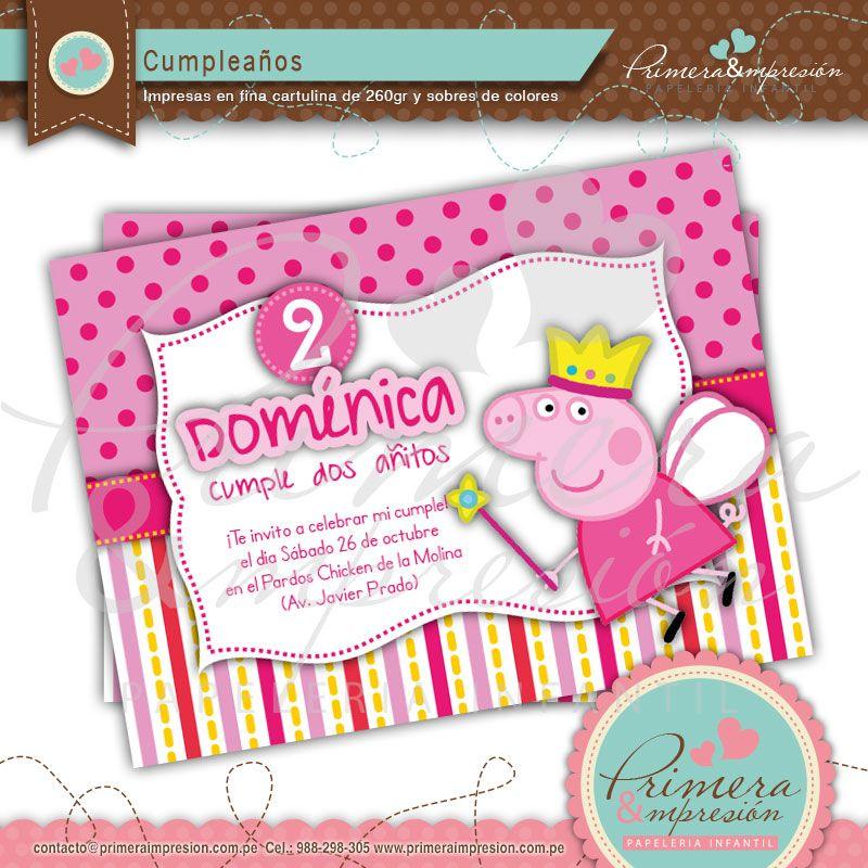 Tarjeta Peppa Pig Peppa Pig Cumpleaños Y Tarjetas De
