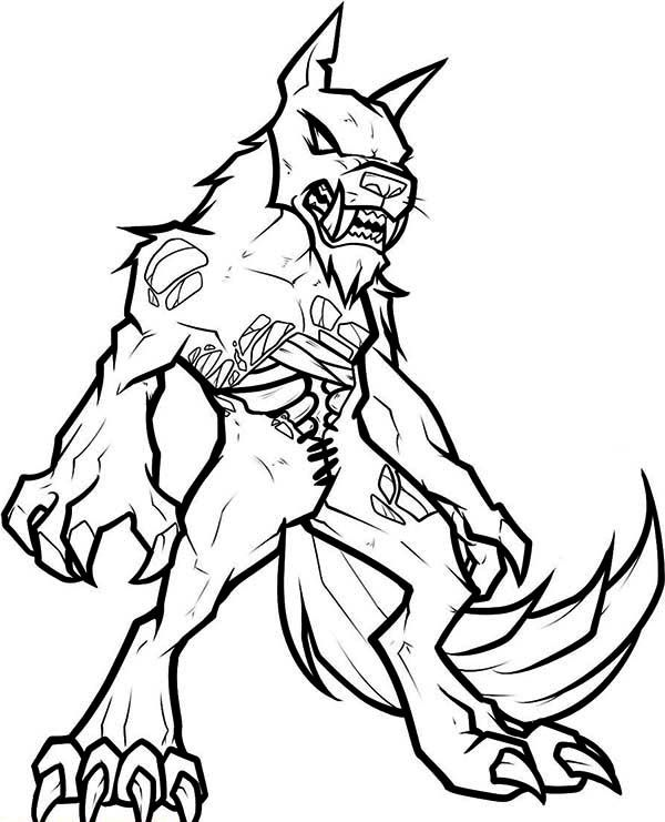 Zombie Werewolf Coloring Page Coloring Pages For Girls Coloring Pages Monster Drawing