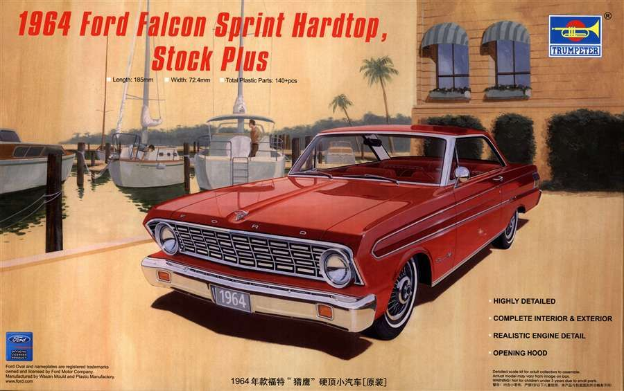 Trumpeter 1 25 1964 Ford Falcon Sprint Hardtop Stock Plus