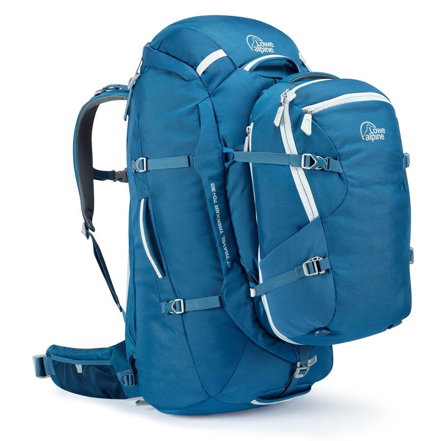 Lowe Alpine Travel Trekker 70 30L Backpack - Atlantic Blue ...