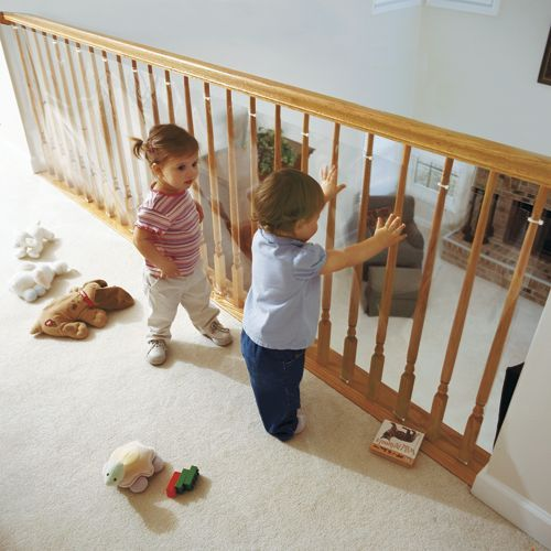 Clear Banister Guard Kit For Kids Safety And 15 Ft Roll Kit Baby Proofing Diy Baby Gate Baby Gates