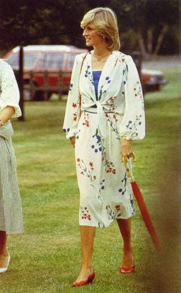 July 6, 1983: Princess Diana at a polo match at Smith's Lawn polo grounds, Windsor.