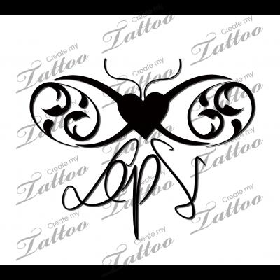 Infinity initials | Infinity initials #148162 | CreateMyTattoo.com