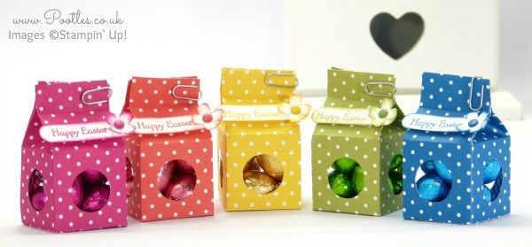 Stampin' Up! Demonstrator Pootles - Tiny Milk Carton Easter Egg Boxes