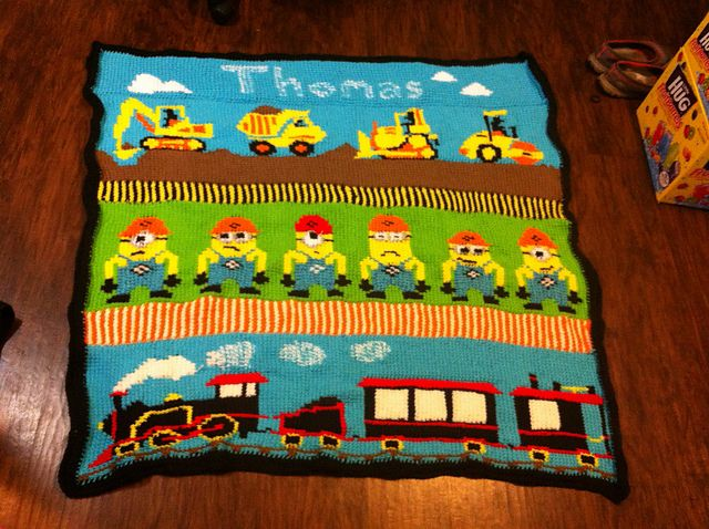 Ravelry: Construction Toddler Blanket pattern by Tamra Darland ...