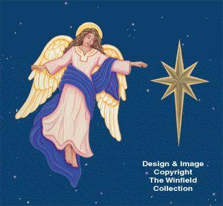 Nativity Star & Angel Woodcraft Patterns