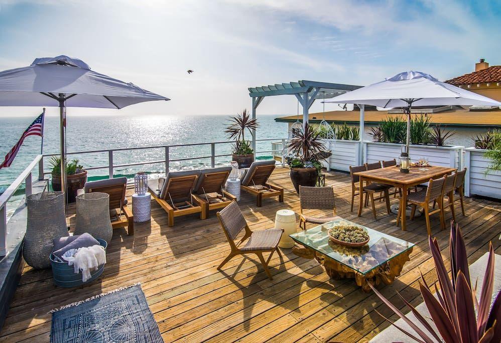 Biggest/Best Deck in Malibu Malibu beach house, Beach