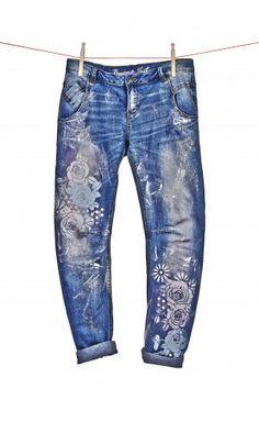 designerjeans statt kleidertonne marabu kreativ klamotten pimpen pinterest jeans jeans. Black Bedroom Furniture Sets. Home Design Ideas
