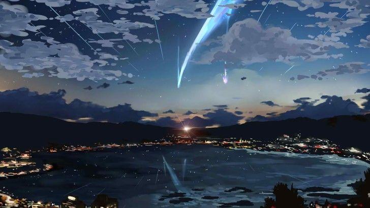 Your Name Anime Comet Scenery Art Wallpaper Anime Wallpaper 1920x1080 Anime Landschaft Anime Tapete
