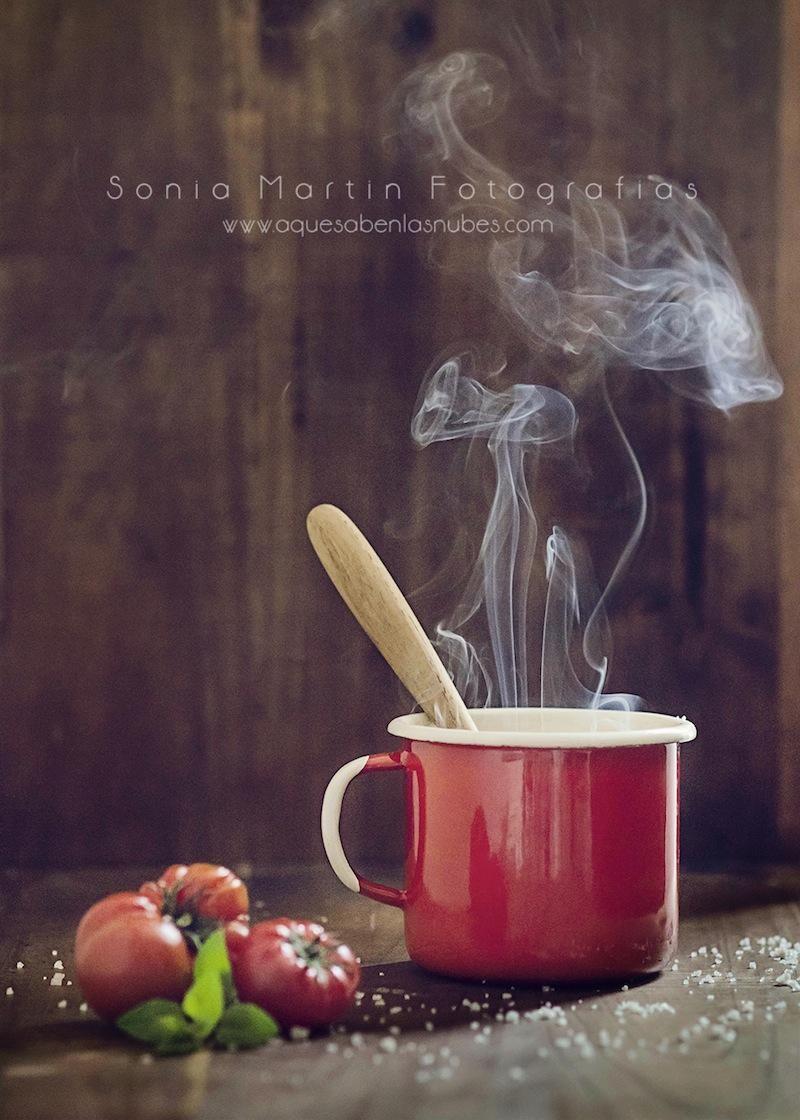C mo fotografiar crema de tomates con or gano a la sal de - Cursos de cocina en barcelona para principiantes ...