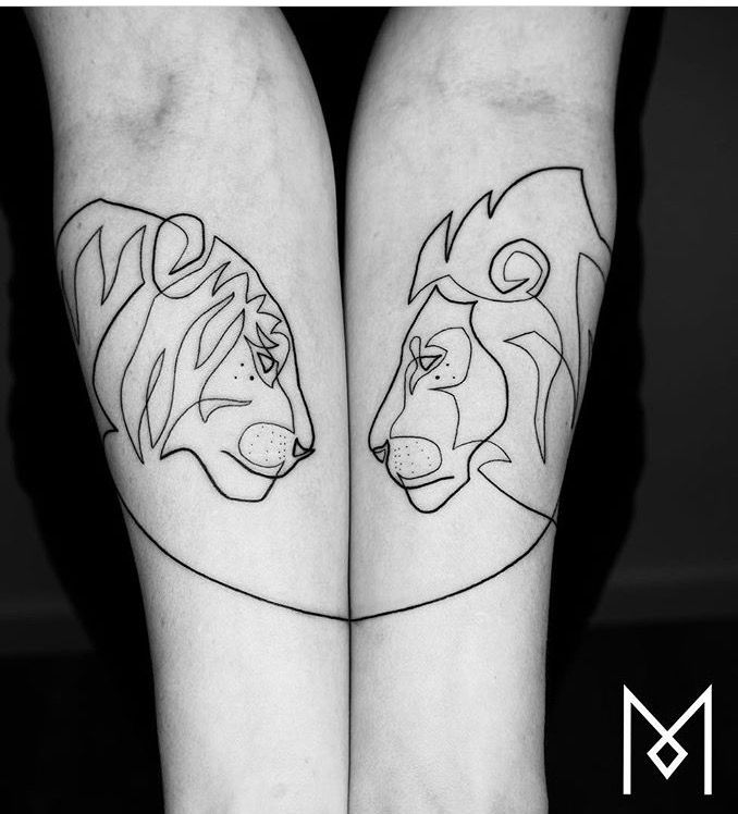 Pics Of My Favorite Geometric Tattoos парные идеи для