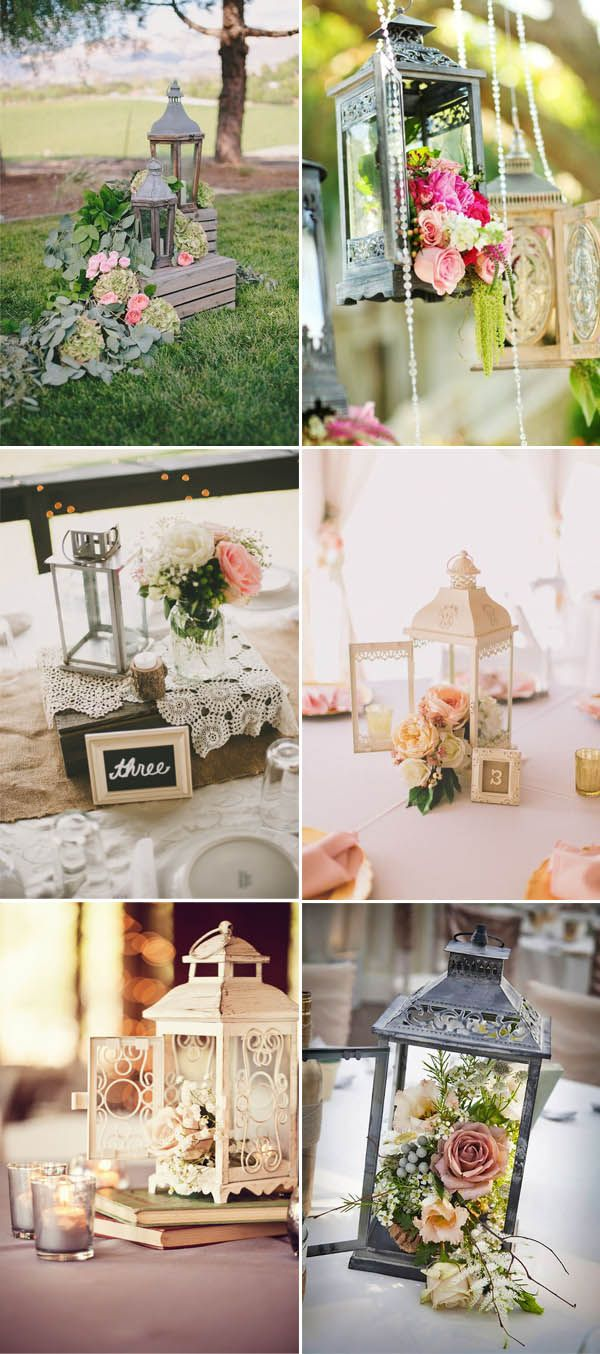 50+ Creative Ideas to add Vintage Charm to Your Wedding Decorations    Wedding centerpieces diy, Lantern centerpiece wedding, Vintage bridal shower